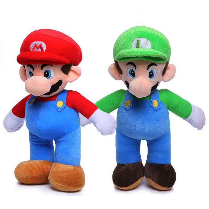 Мягкие игрушки 25 см для детей, супер Mario Bros, Luigi, мягкие игрушки для детей, высокое качество, G0166