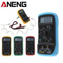 ANENG AN8205C مقياس رقمي مصغر متعدد محمول متعدد متر التيار المتناوب/تيار مستمر الجهد متر مقياس التيار الكهربائي المقاومة درجة الحرارة Eletronics فاحص