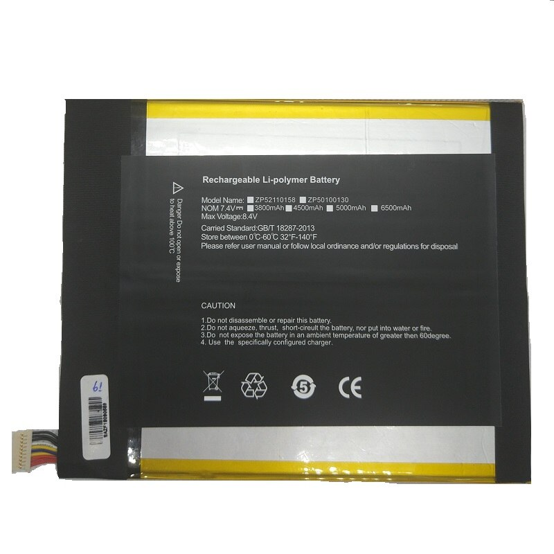 5000mAh batería 7,4 V para cubo i9 Tablet PC Kubi nuevo li-po polímero recargable acumulador reemplazo 2877167 W/10 líneas + enchufe