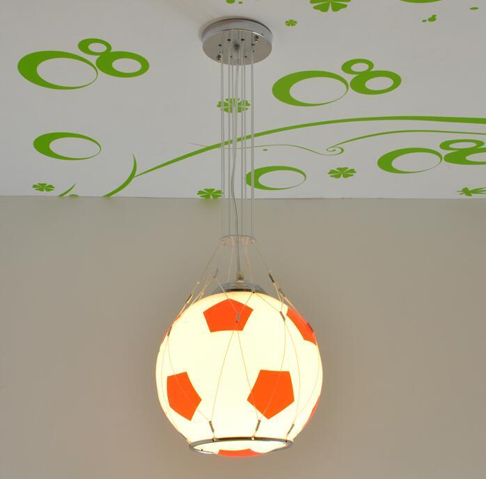 Juguete para niños, lámpara LED moderna de control remoto, lámpara colgante de succión para fútbol, baloncesto, niña, niño, lámpara de luz de dibujos animados para dormitorio ZH