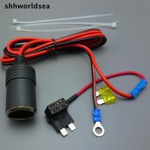 Shhworldsea 1/5/50/100 Uds 1M 1.5mm2 conector de mechero de coche mid enchufe DC12V 24V extensión ATC estándar portafusibles