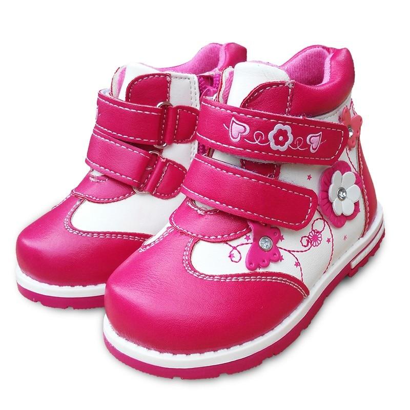 Bottines dautomne en cuir PU pour enfants   1 paire de chaussures en cuir fleur, à la mode, pour bébés filles, nouvelle collection
