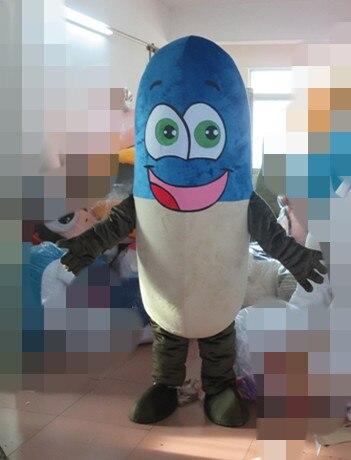 Disfraz de mascota azul para adulto