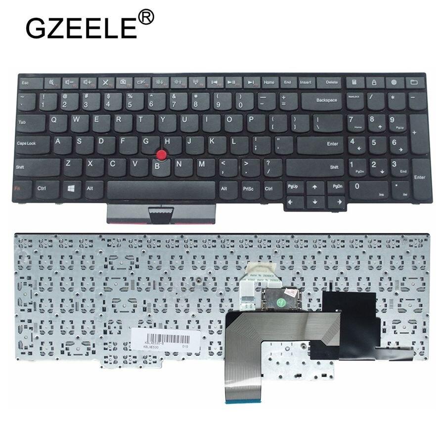 GZEELE-لوحة مفاتيح جديدة لأجهزة Lenovo و IBM و ThinkPad E530C و E530 و E545 و E535 و E530 ، تخطيط إنجليزي أمريكي 04Y0301 0C01700 و V132020AS3