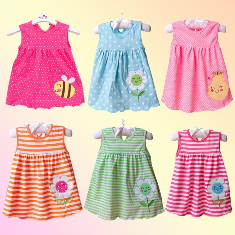 Baby Dress 2018 Summer New Girls Fashion Infantile Dresses Cotton Children's Clothes Flower Style Ki