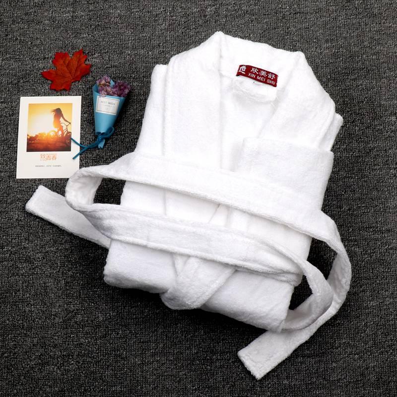 Мужские халаты, мужские толстые хлопковые халаты, размер XXL, белая махровая зимняя Пижама с жаровкой, кимоно, мужской халат, Мужская одежда д...