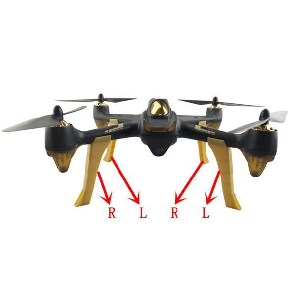LeadingStar 4 unids/set H501S tren de aterrizaje, Skids RC FPV, piezas de repuesto de cuadricóptero, Drone de carreras, accesorios DIY ZK30