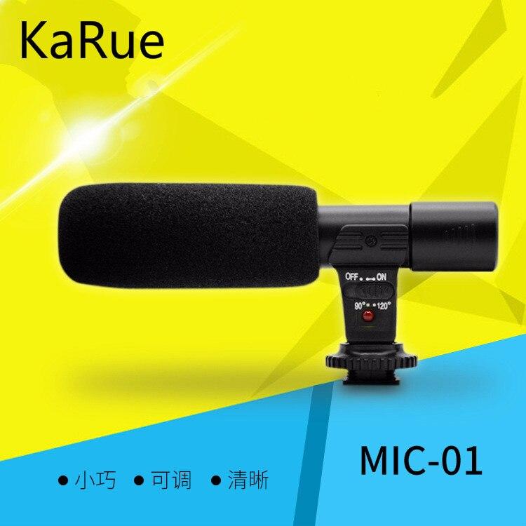 Karue microfone digital câmera de vídeo dv studiocamcorder 3.5mm Mic-01 gravação para canon nikon pentax slr câmera