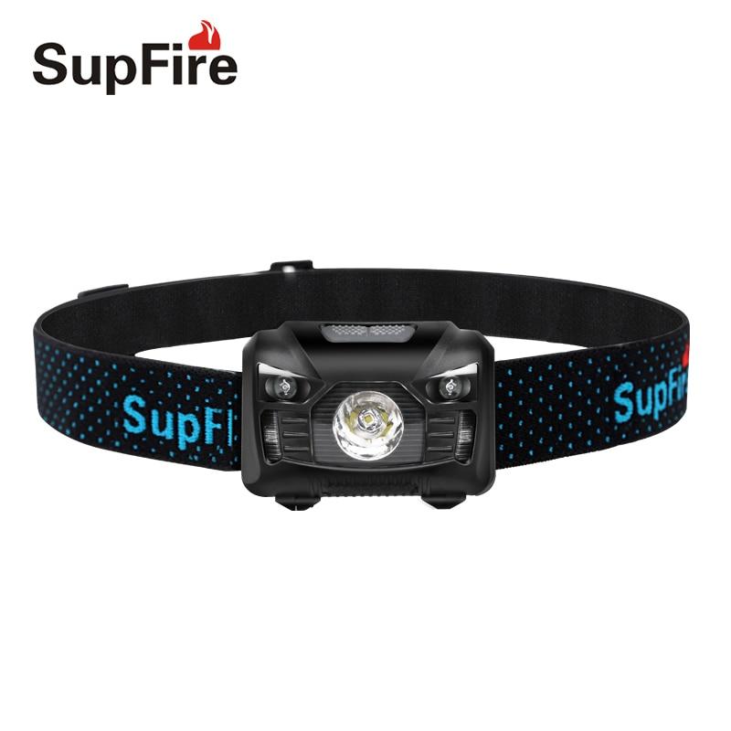 Supfire головной светильник светодиодный налобный фонарь HL06 флэш-светильник 1000lm EDC головная лампа USB Lampe фронтальная рыболовная Linterna светодиод...