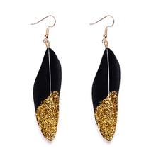 Fashion feather earrings drop earrings pen best gift for women and girls earrings jewelry