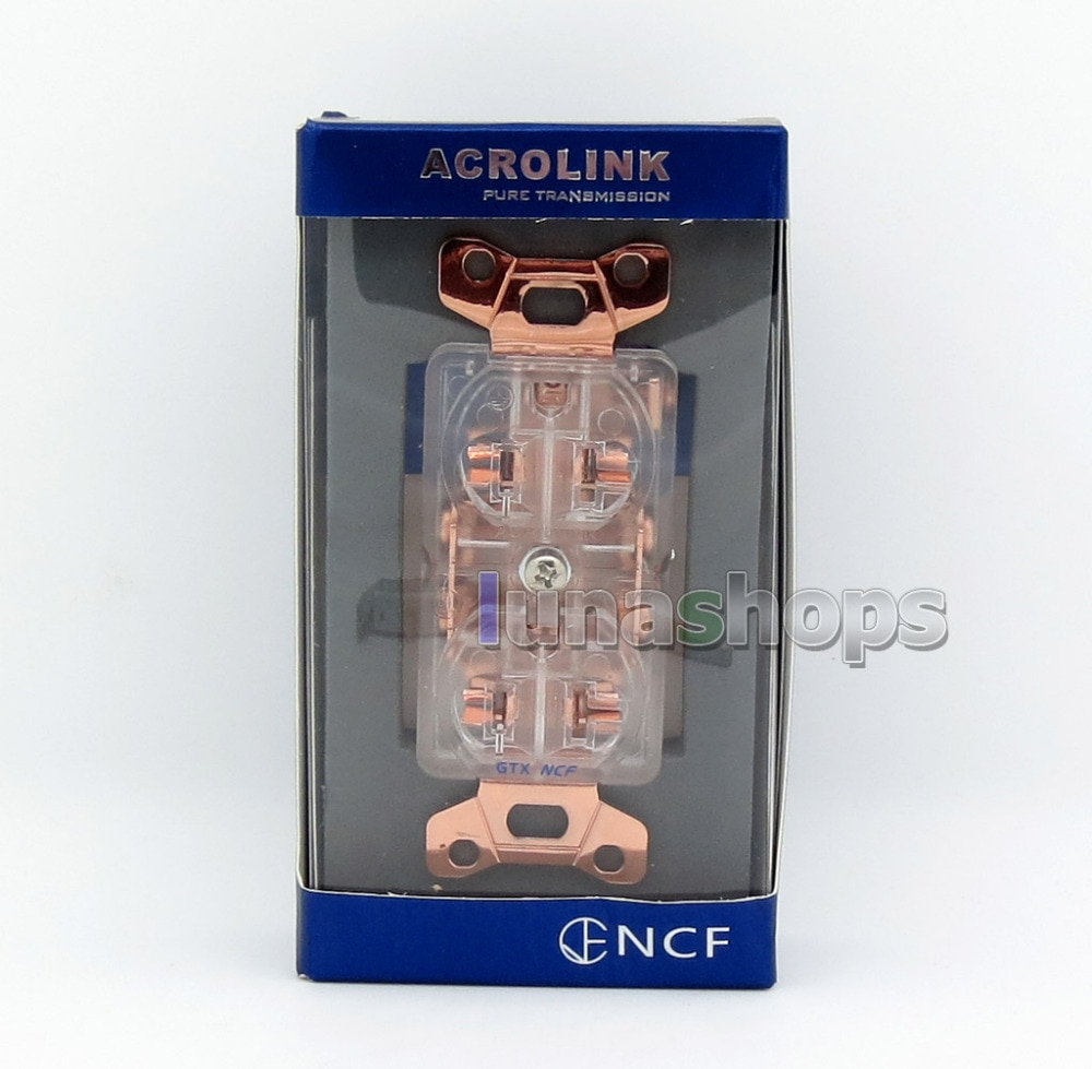 LN005756 Acrolink refrigeration Series GTX NCF Pure Transmission Hi-End-G Power Plug Adapter Socket Gold plated