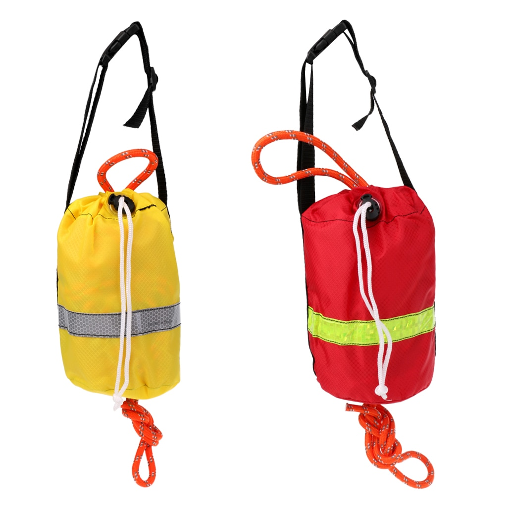 1 Uds. Kayak reflectante línea de rescate Throwline bolsa de agua segura cuerda flotante deportes acuáticos equipo de Rafting 16 m/21 m