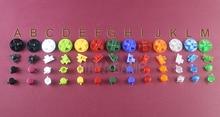 OCGAME pour Gameboy classique pour GB DMG Console de jeu coloré touches Set remplacement pour AB boutons d-pad bouton 30 ensembles/lot