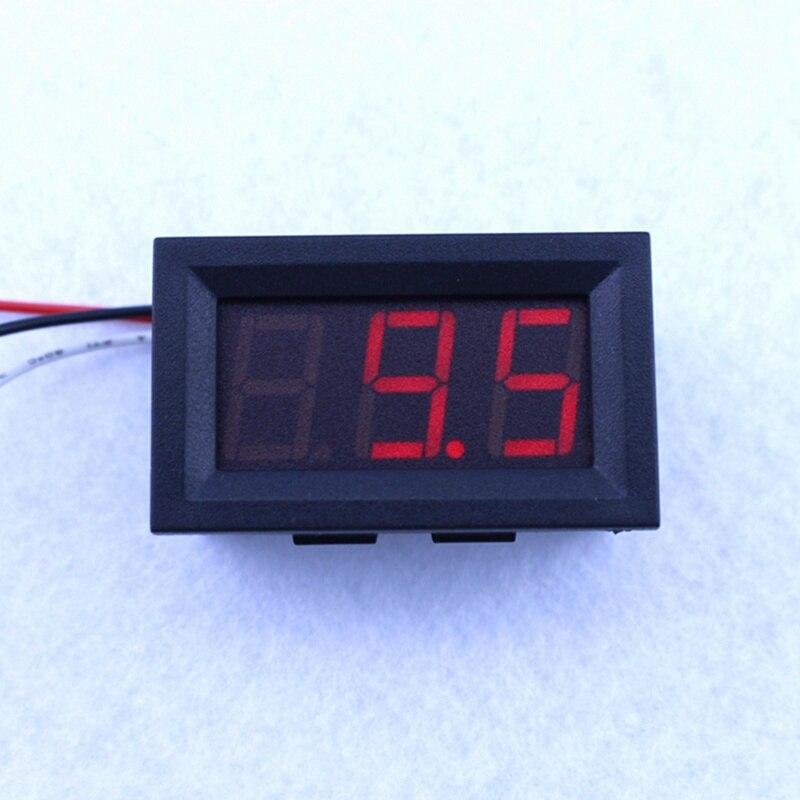 """1 Uds voltímetro Digital DC 100V voltímetro de voltaje que funciona 30V 0,56 """"Pantalla LED roja de 3 dígitos envío gratis"""