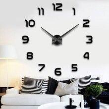 Horloge murale en métal acrylique   Usine, nouveau Metall Moderne 3D bricolage, miroir métallique acrylique, décoration de la maison Super grande 2020 cm x 130 cm
