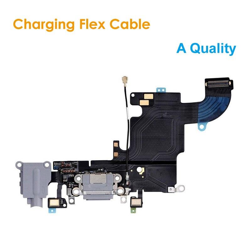 Un reemplazo de calidad Cable de carga flexible para iPhone 6S 4,7 auriculares Jack USB Audio MIC Puerto Socket Dock Connector para iPhone6S