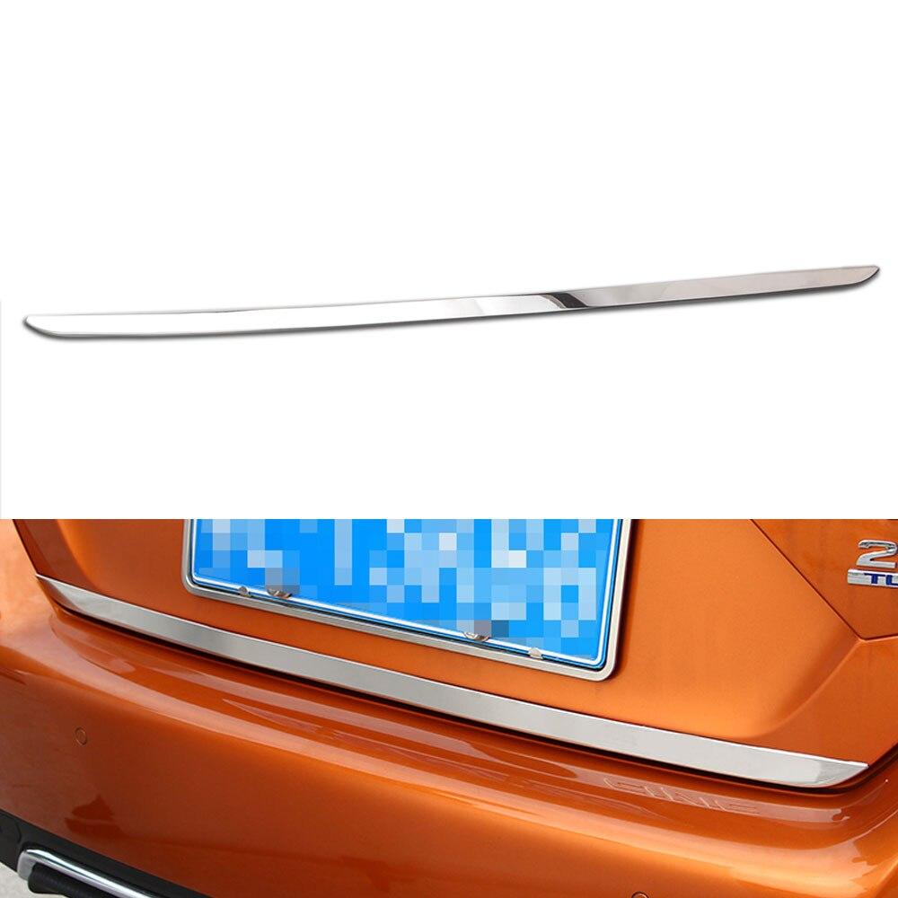Pegatina de cromo inoxidable para puerta trasera de coche puerta trasera tapa para cámara molduras de Marcos ajuste para Honda Civic Sedan 2016-2018 estilo de coche