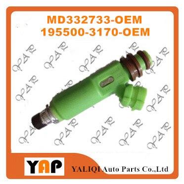 Новый топливный инжектор (6) для FITMitsubishi Montero Sport V73 6G72 3.0L V6 195500-3170 MD332733 1998-2003