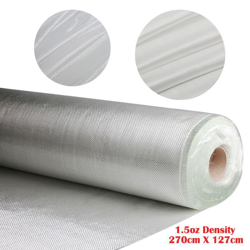 White Fiberglass Cloth Woven Roving Cloth Glass Fiber Mesh Plain Weave Reinforcement Fabric Tool DIY Material Supplies Fireproof