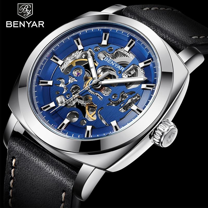 BENYAR Men Watch Luxury Top Brand Mechanical Watch Fashion Sport Chronograph Military Watch Men Clock Relogio Masculino
