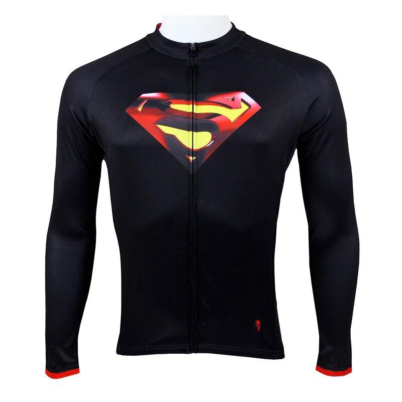 Jersey superman de Ciclismo de alta calidad, ropa de ciclismo de montaña para hombre, jersey deportivo negro con cremallera xxxl de superman