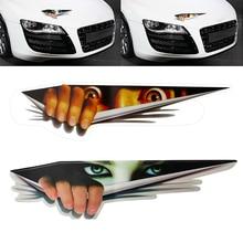 3D voiture autocollants Peeking monstre oeil Voyeur couvre voiture carrosserie pare-chocs décoration décor bâches de voiture voiture-style Automobile accessoires