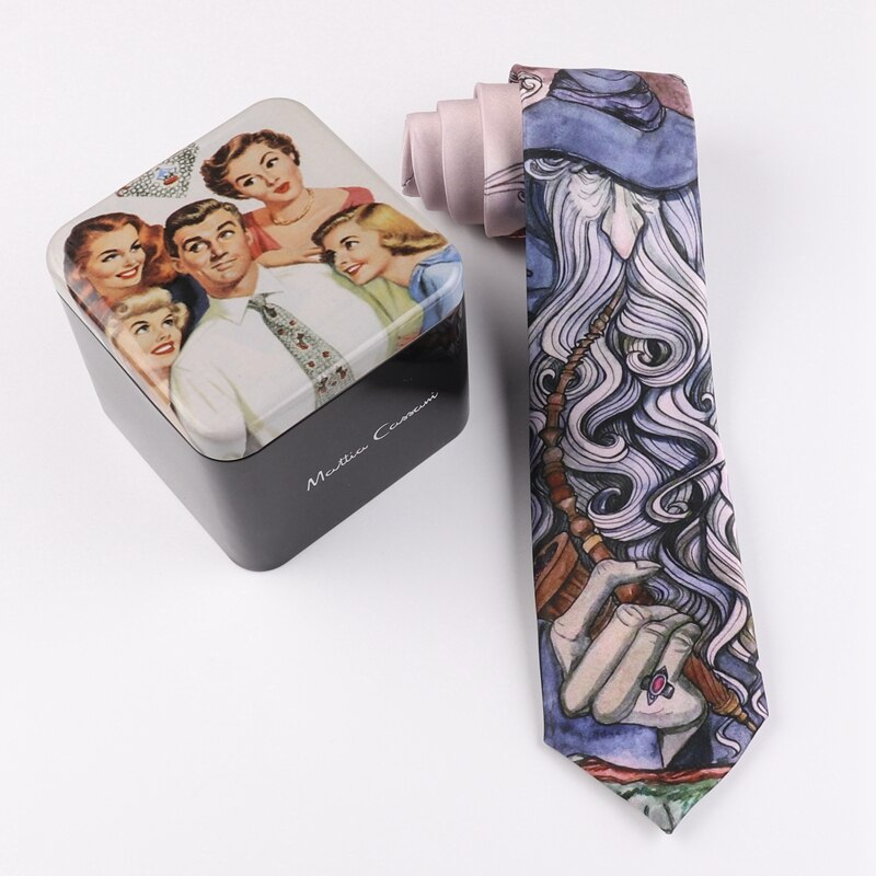 Tie 7CM printing tie funny fun male and female students graduation gift tie