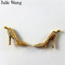 جولي وانغ 20 قطع سبائك العتيقة الذهب عالية الكعب سحر تعليق قلادة المعلقات النتائج مجوهرات جعل التبعي