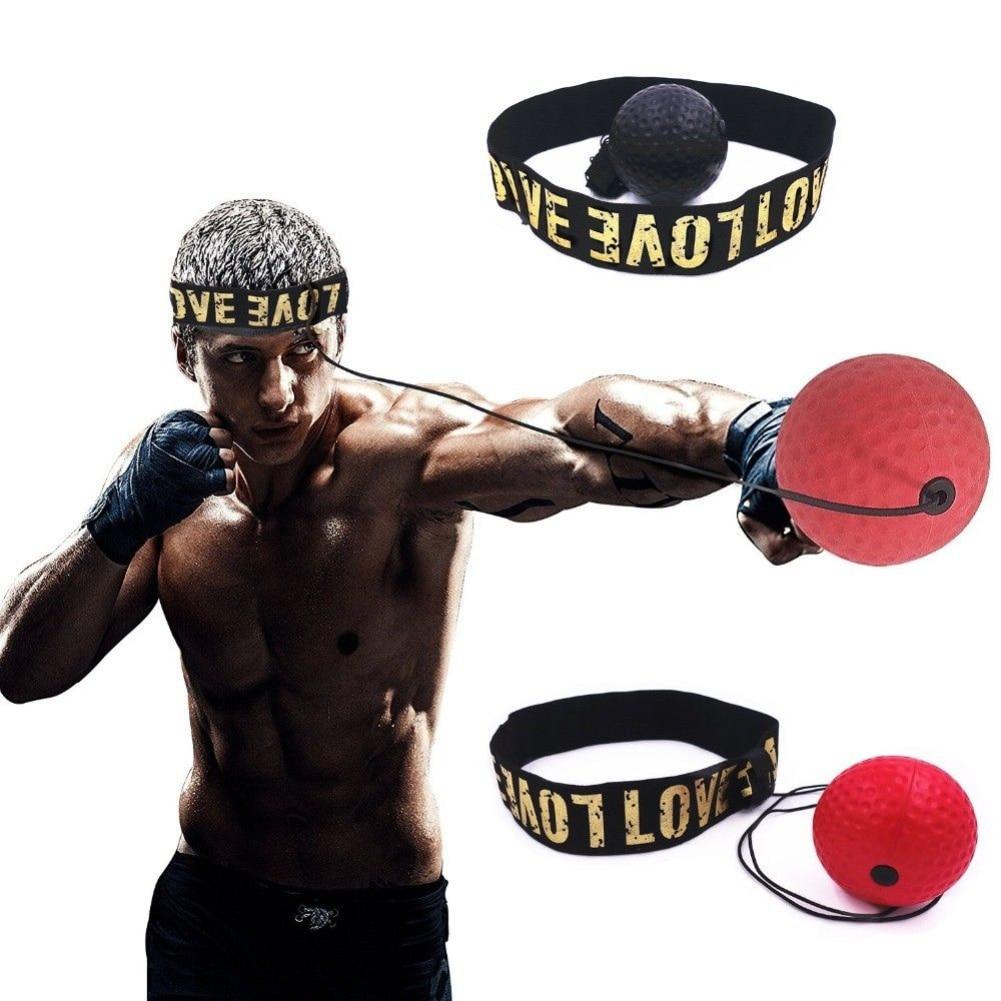 1 шт., смонтированная на голову боксерская рефлекторная скорость, боксерская груша, чтобы улучшить реакцию силы, ручной глаз, Тренировочный Набор Муай Тай, боксерский Пробивной мяч