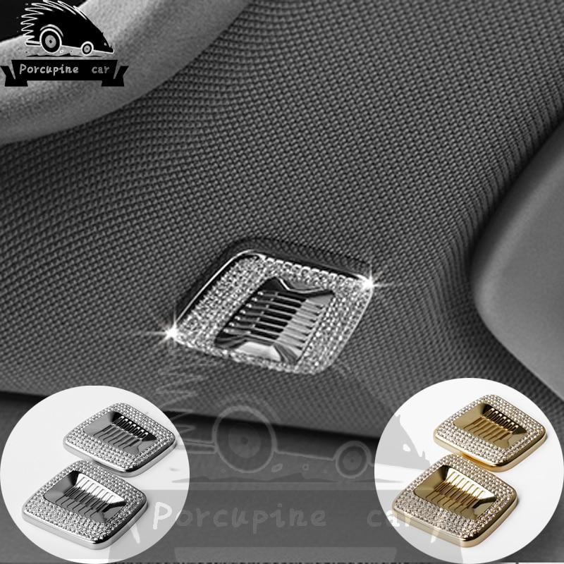 Diamond Car Interior Roof Dome Microphone Decorative Cover For BMW 1 2 3 4 5 6 7 Series 5GT F10 F15 F30 X1 X3 X4 X5 X6 i3 i8