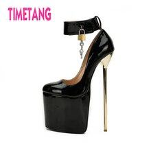TIMETANG Gorgeous Super High 22cm Thin Heel Big Size 40-50 Sexy Women Drag Queen Cross Dresser Pumps  Platform Night Club Shoes