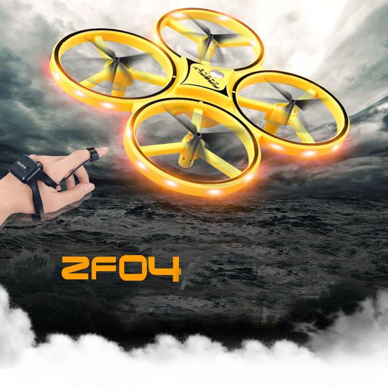 ZF04 RC Drone 2,4 Ghz 6 ejes LED Luz de gravedad detección de obstáculos infrarrojos evitación reloj Control Quadcopter juguete para niños regalo