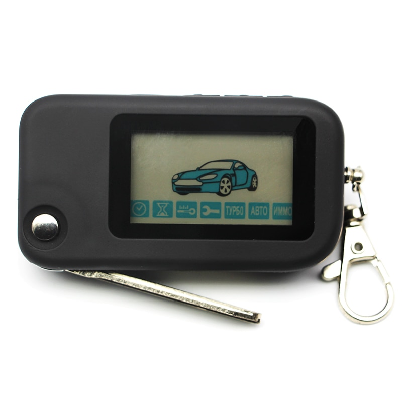 Llavero Starline B94 control remoto con llave hoja sin cortar para alarma de coche de dos vías Starline B94 plegable coche control remoto