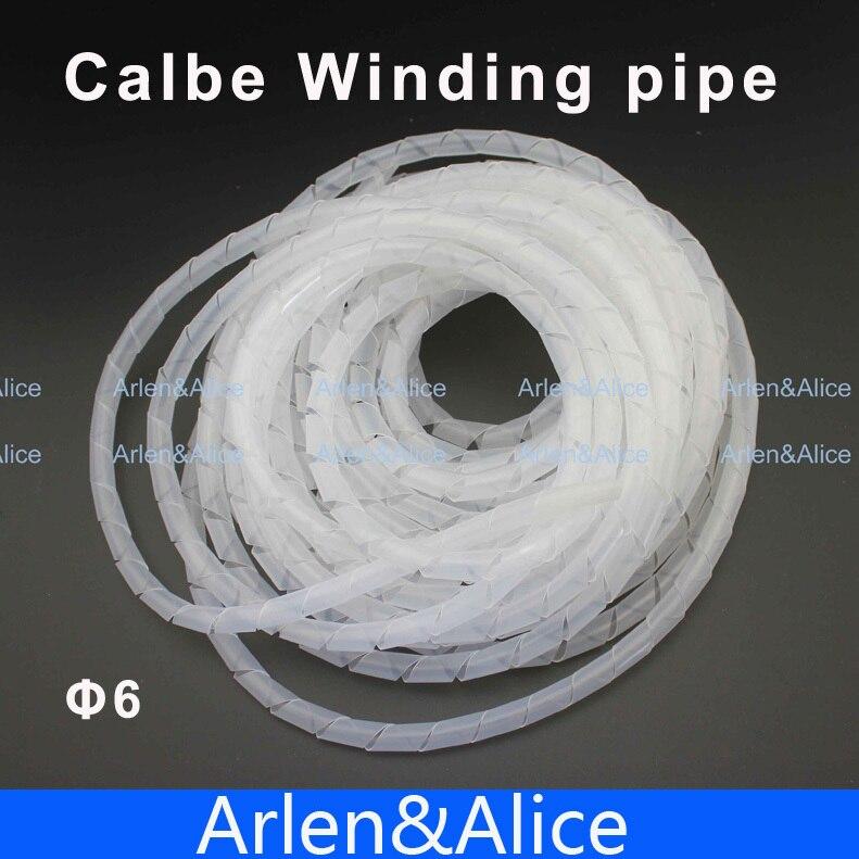 Chama-bandas espirais brancas retardadoras diâmetro 6mm sobre 14 m cabo de embalagem mangas tubo de enrolamento