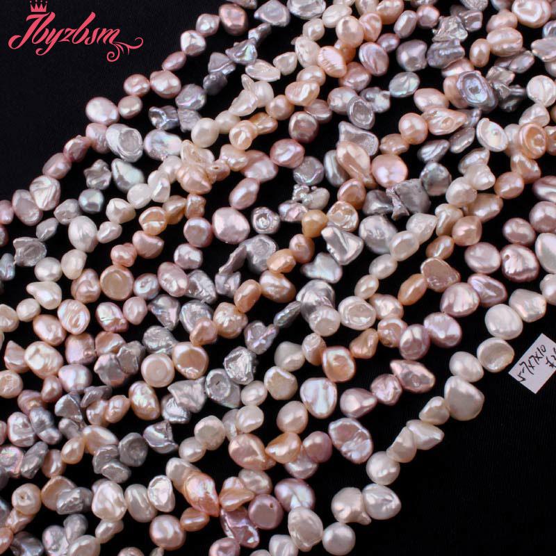 """5x7-7x10mm perla de agua dulce irregular perlas cuentas de piedra Natural para collar DIY fabricación de joyas de pendientes 14,5 """"envío gratis"""