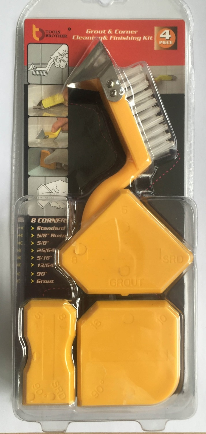 Free Ship 12sets Per Order Sealant Scraper Silicon Sealant Trowel Caulking Tool Kit with one Brush stainless steel removal tool