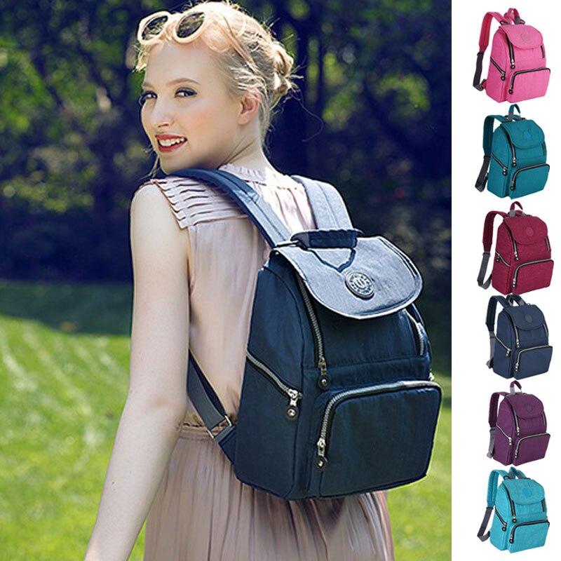 Moda mamá maternidad multifuncional bolsa de pañales mochila bolsa de pañales Desinger bolsa de enfermería para el cuidado del bebé