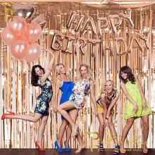 W nowym stylu specjalne tło imprezowe zasłony blichtr folia kurtyna foto budka Baby Shower ślub dekoracja urodzinowa zasłony