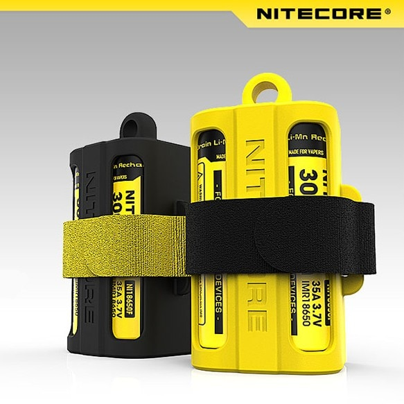 Original Nitecore 18650 Battery case Nitecore NBM40 Silicon case holder Storage box Portable Battery Magazine