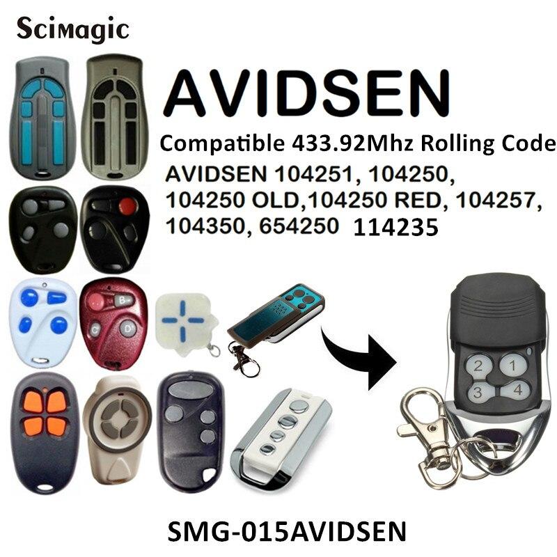 433 МГц код прокатки пульт дистанционного управления совместимый AVIDSEN 104251, 104250, 104250 старый, 104250 красный, 104257, 104350