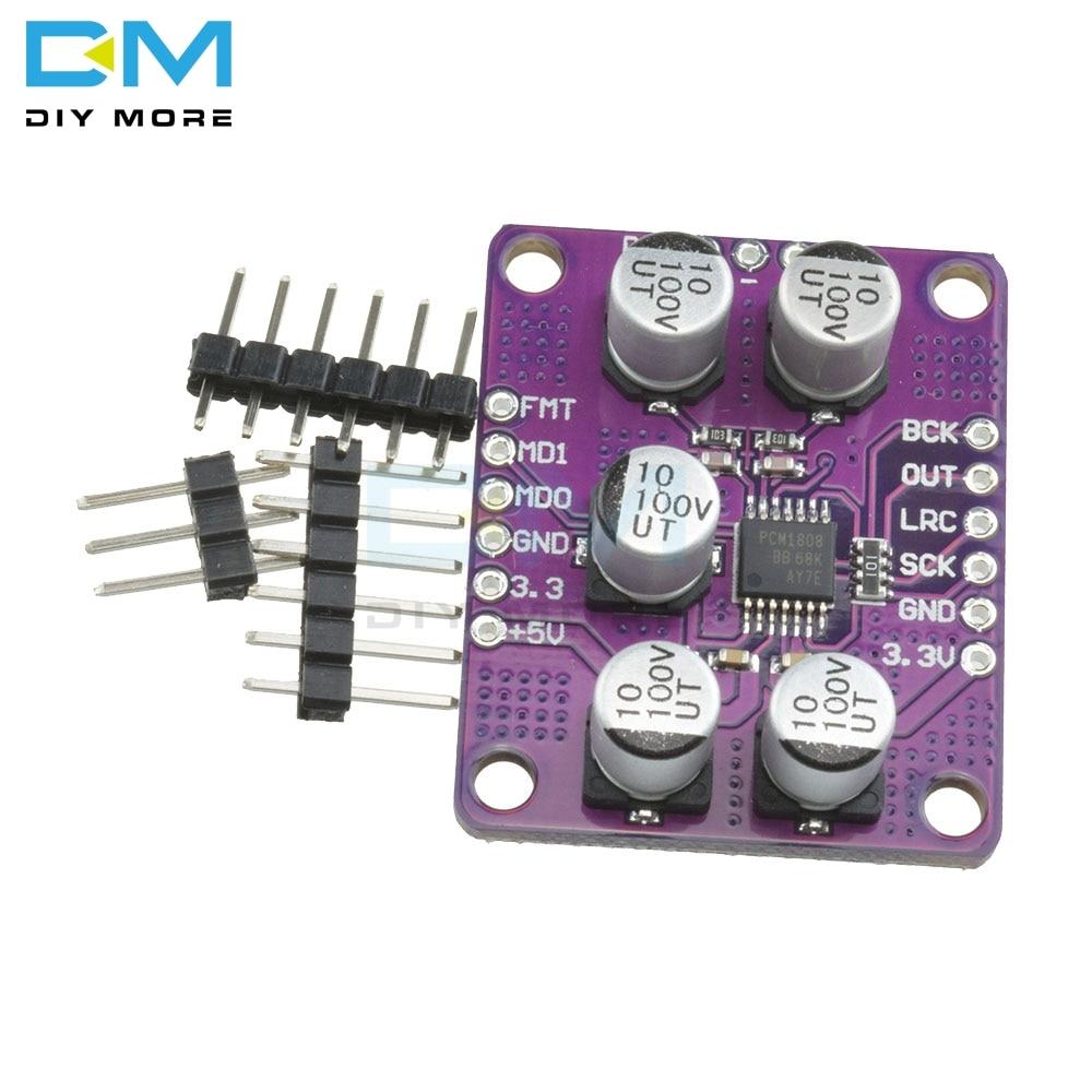 PCM1808 105dB SNR аудио стерео ADC односторонний аналоговый вход декодер 24bit усилитель доска плеер Сделай Сам электронный Diy Набор