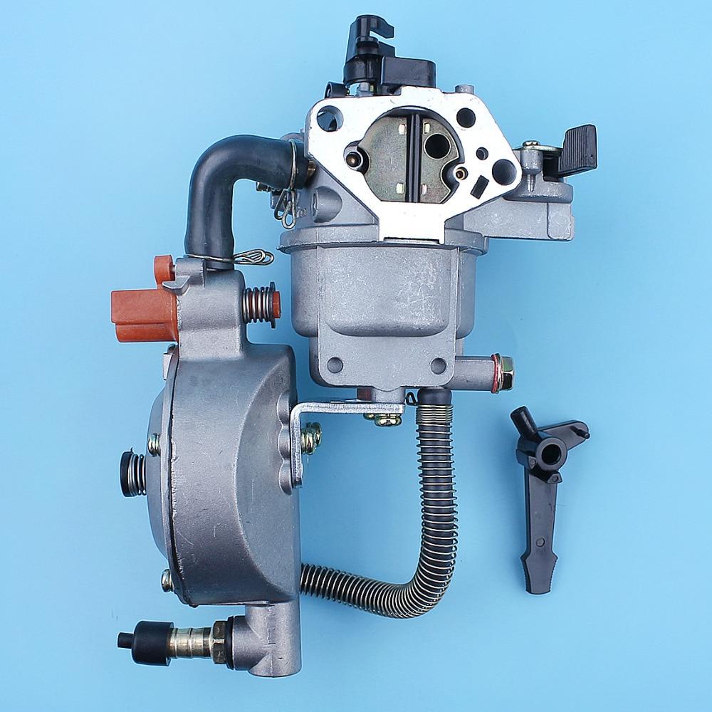 Carburetor Dual Fuel Conversion Kit For Honda GX390 GX340 6KW 6.5KV 11HP 13HP Water Pump LPG / CNG Carb Replacement Parts cng and diesohols