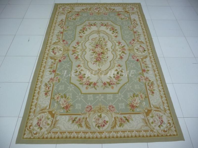 Francês de lã Tapetes e Carpetes o Envio Gratuito de 6.25 lã da Nova Aubusson Tapete Handmade 100% Zelândia Tapetes Área 'x9. 52