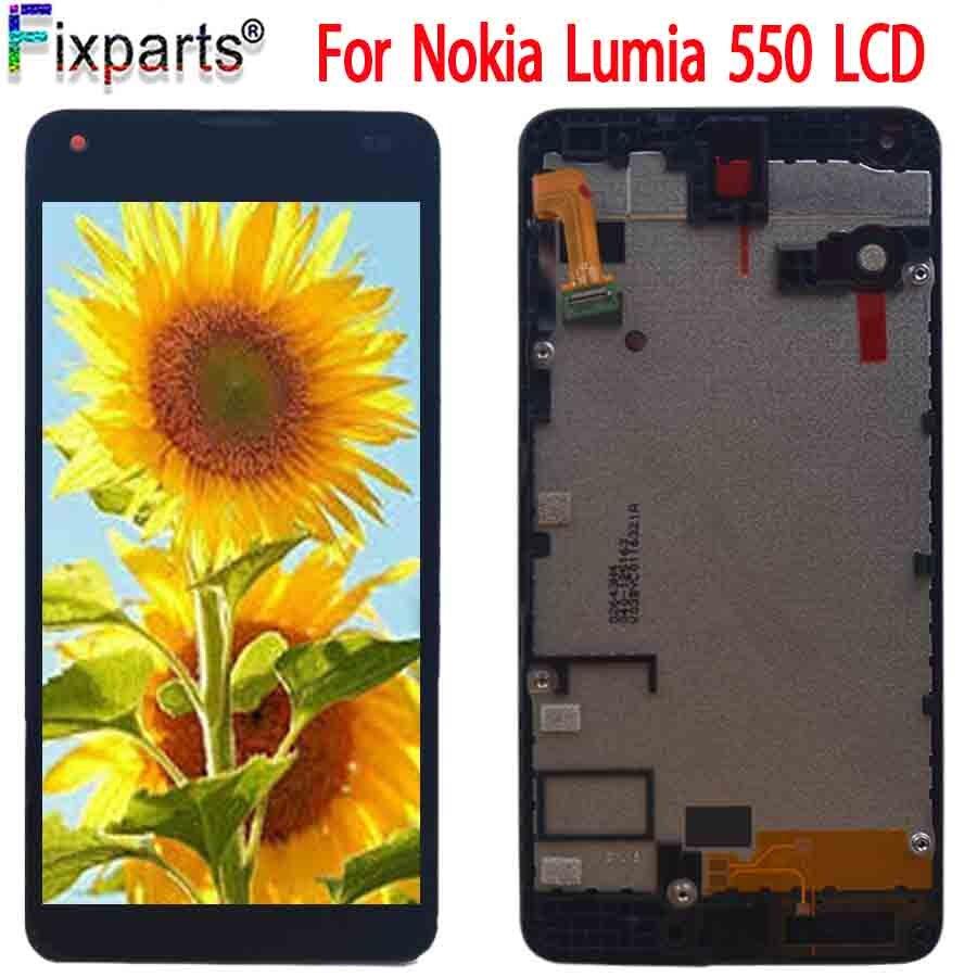 Pantalla Original para Nokia Lumia 550 pantalla LCD + MONTAJE DE digitalizador con pantalla táctil piezas de repuesto para Nokia 550 RM-1127 LCD
