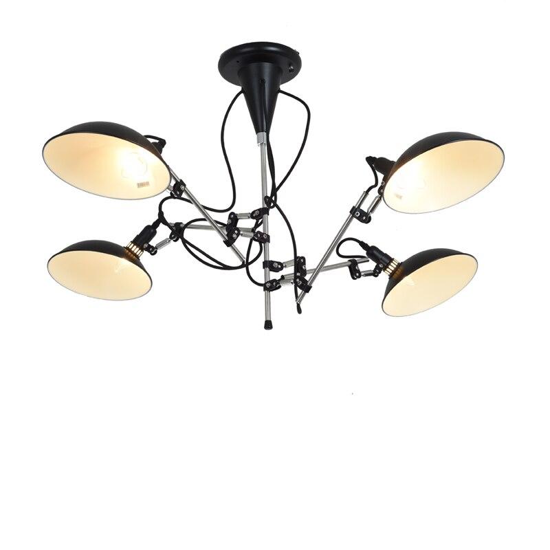 Люстра для освещения, современные люстры, черная люстра в скандинавском стиле, регулируемые светодиодные лампочки, люстры для домашнего де...