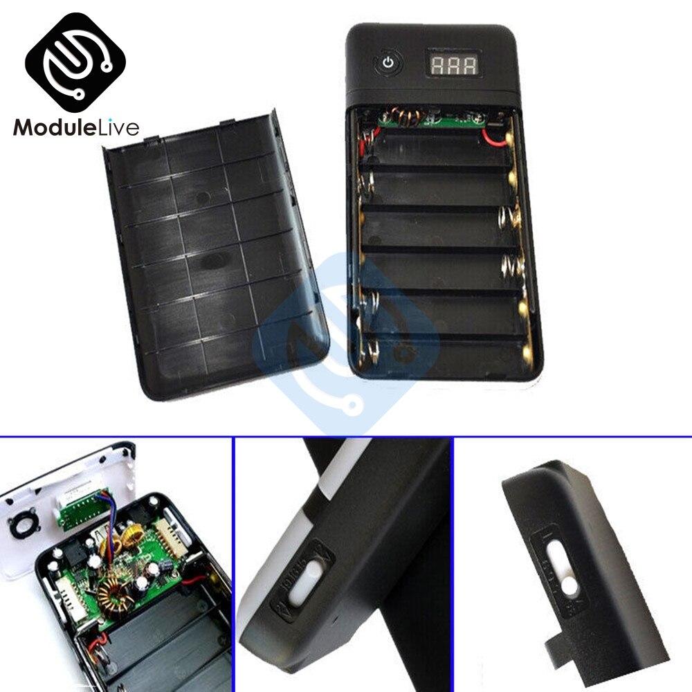 3.3A 5V 12v 19v 21V negro banco de energía móvil seis 18650 cargador de batería para 19V Laptop 5V teléfono nuevo