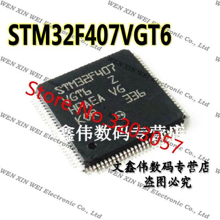 Original envío gratis 100 Uds STM32F407VGT6 STM32F407 ST MCU 32BIT FLASH de 1MB 100LQFP