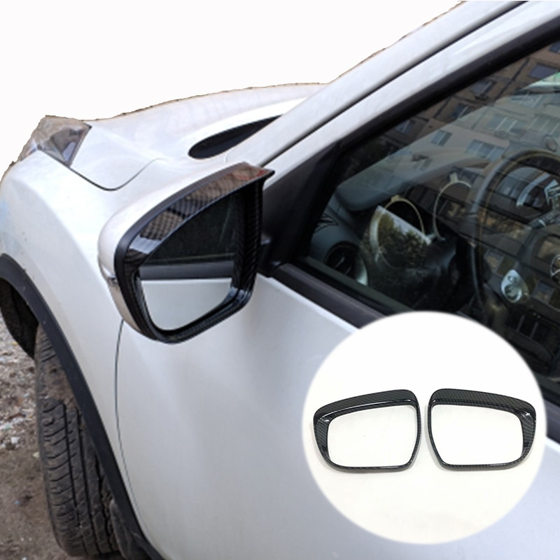 ABS fibra de carbono para Nissan Pathfinder 2017-2020 accesorios espejo retrovisor para coche bloque lluvia cubierta tipo ceja Trim Car styling 2 uds