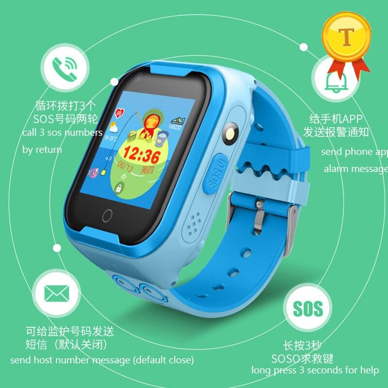 2019 bebé impermeable GPS Tracker chico muñeca reloj inteligente chicos chica chico s colorido precioso smartwatch para chico s sos wifi lbs gps reloj