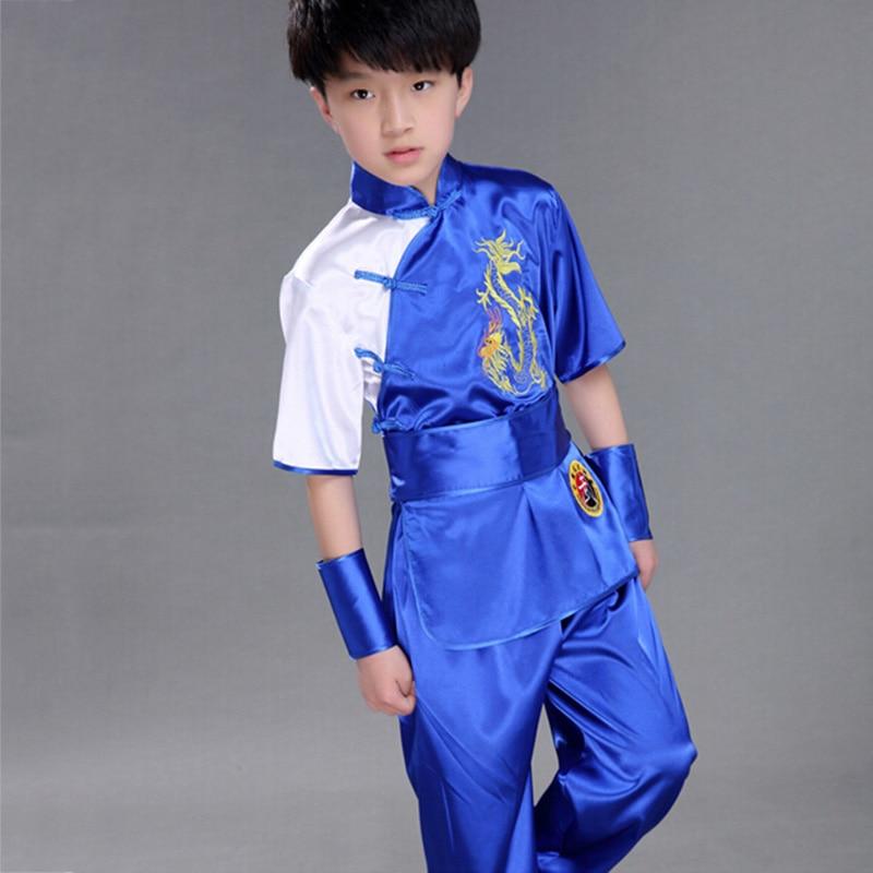 Children Chinese Traditional Wushu Costume  Uniform Kung Fu Suit Kids Boys Girls Stage Performance Clothing Set Chinese Costume
